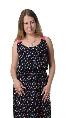 0e47cb1eb5a78 Платье Сарафан 1к-1 (черный, горох) купить оптом от производителя в ...