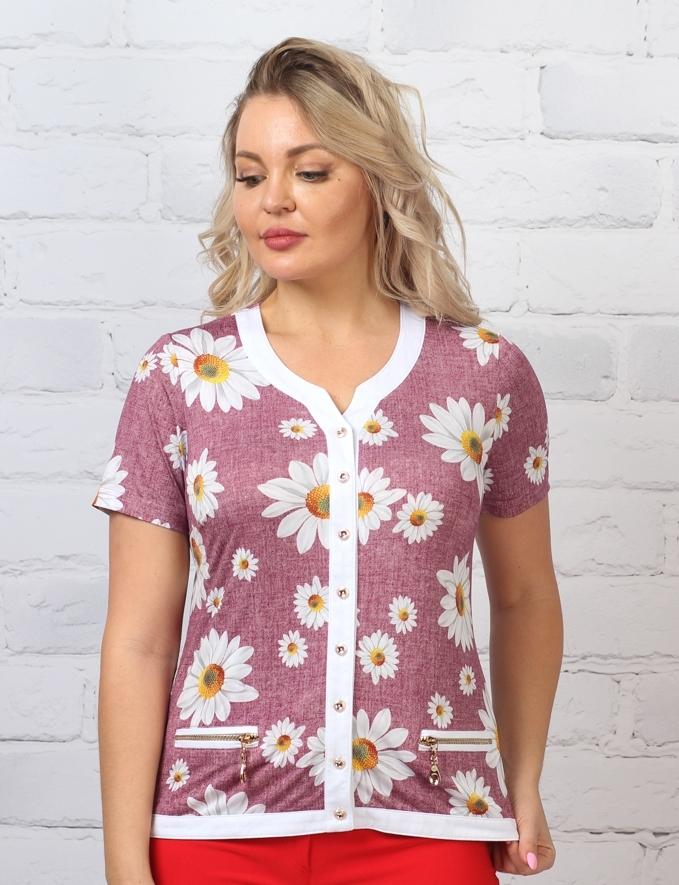 Блузка Ромашка 1к-2 фото