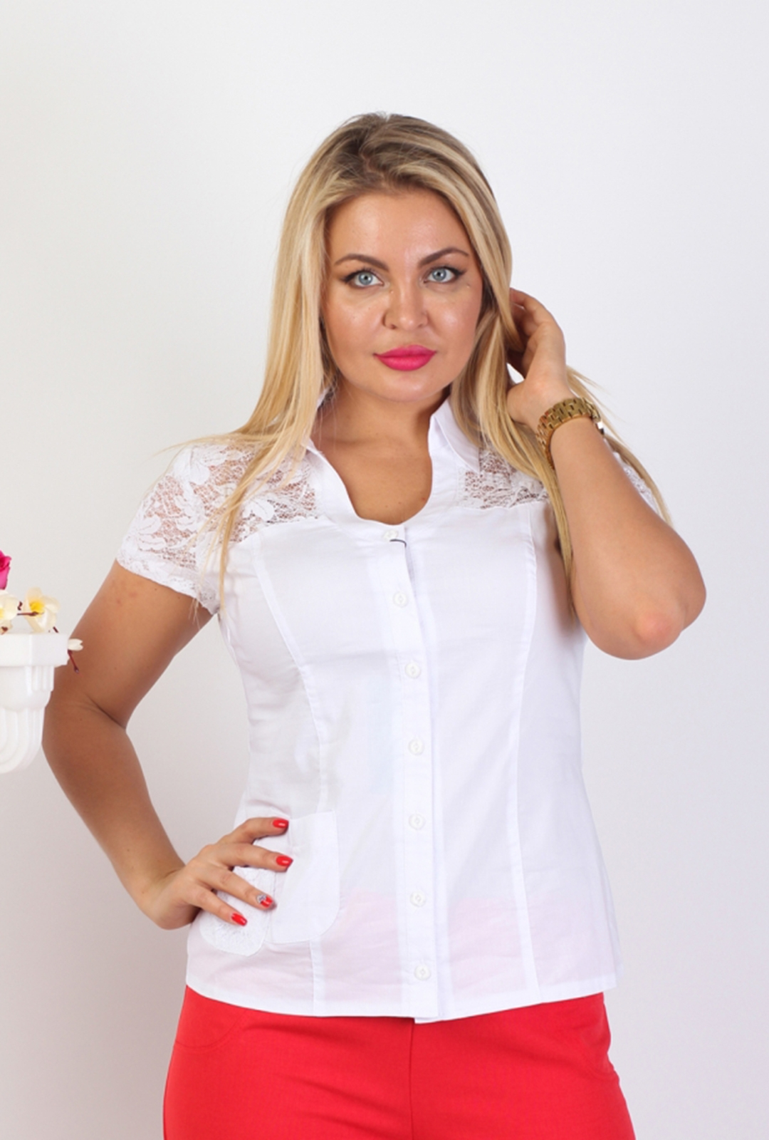 Блузка Аманда 1к-1 фото